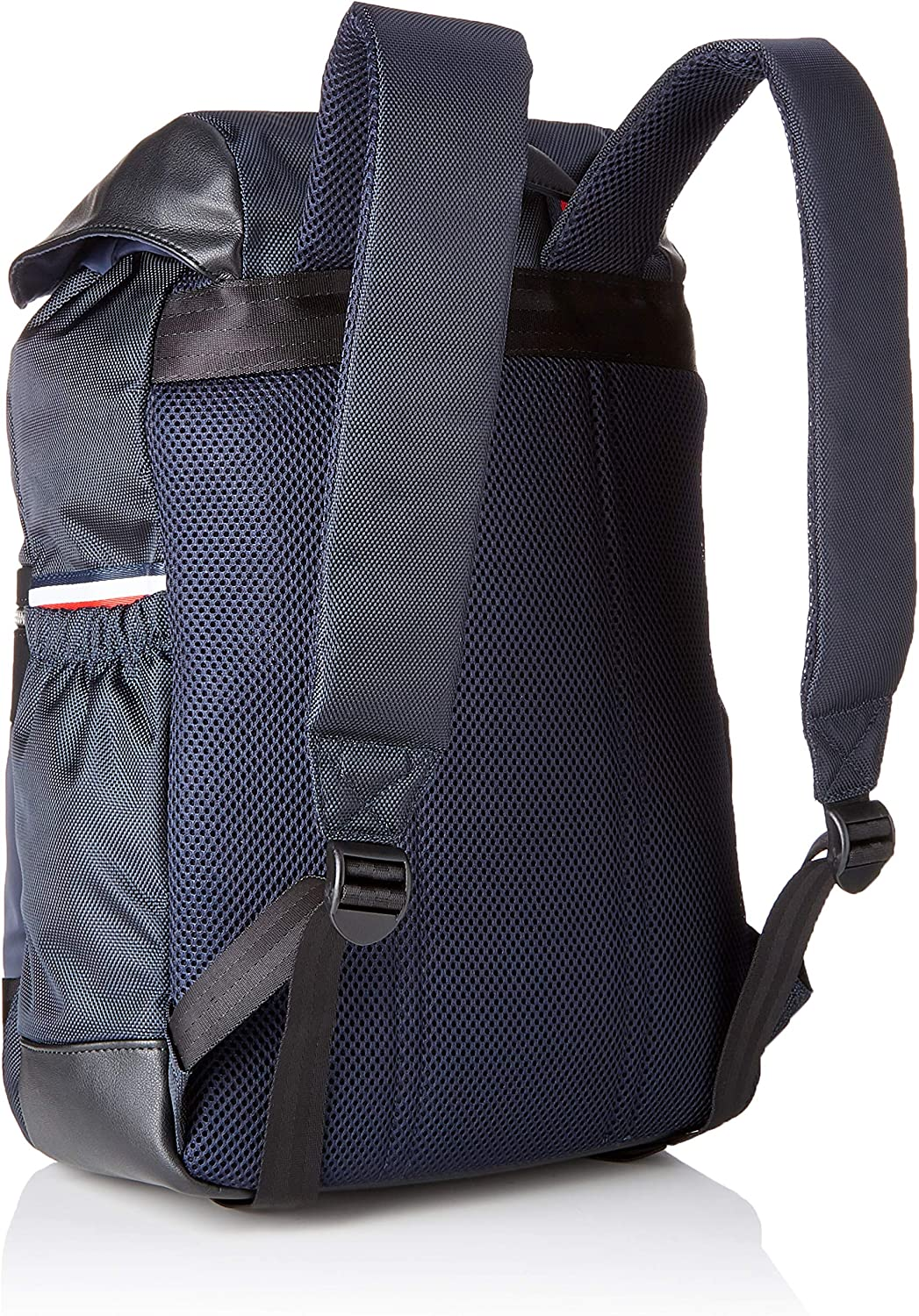 Tommy Hilfiger Homme Sac /à dos en nylon avec rabat 17x46x35 cm Bleu Nylon Mix Flap Backpack Tommy Navy 413