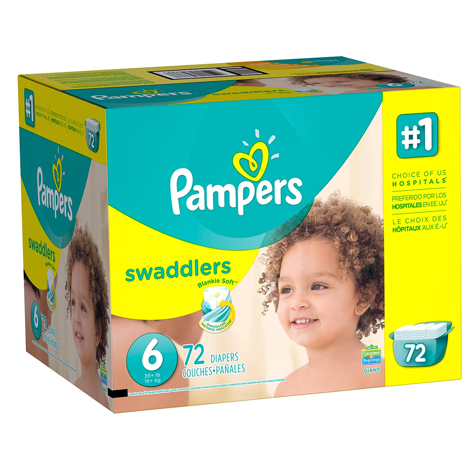 Amazon.com: Pampers Swaddlers Diapers Size 6, 72 Count: Health ...