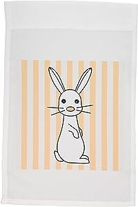 3dRose fl_6125_1 White Baby Rabbit, Garden Flag, 12 by 18-Inch