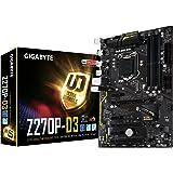Gigabyte GA-Z270P-D3 7/6th Generation Motherboard - Black (Intel Core i3/i5/i7 Processors, LGA 1151, Dual Channel DDR4, USB 3.1, PCI-E 3.0, PCI-E x1, SATA 6 GB, USB2)