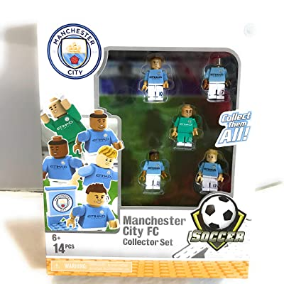 The Bridge Direct Manchester City FC buildable Figure Collector Set: Toys & Games