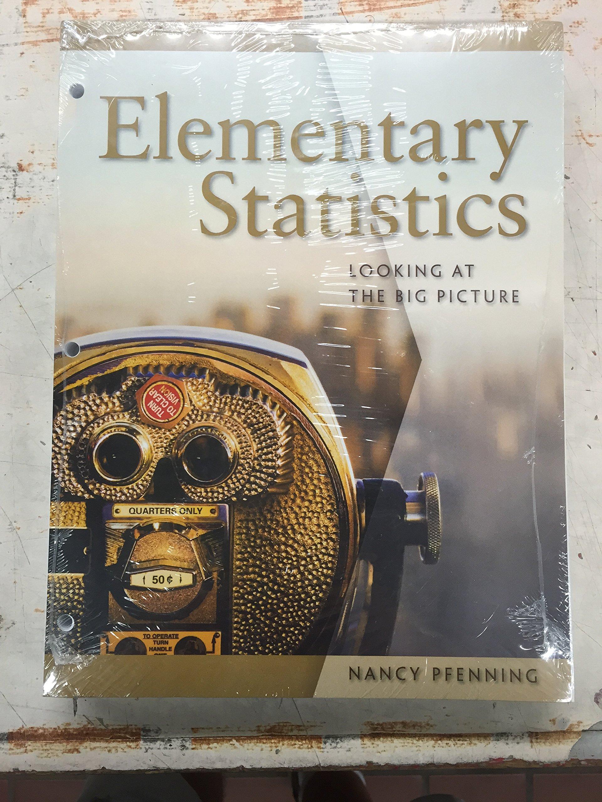 Download Elementary Statistics Looking At The Big Picture ( Bundle ) pdf epub