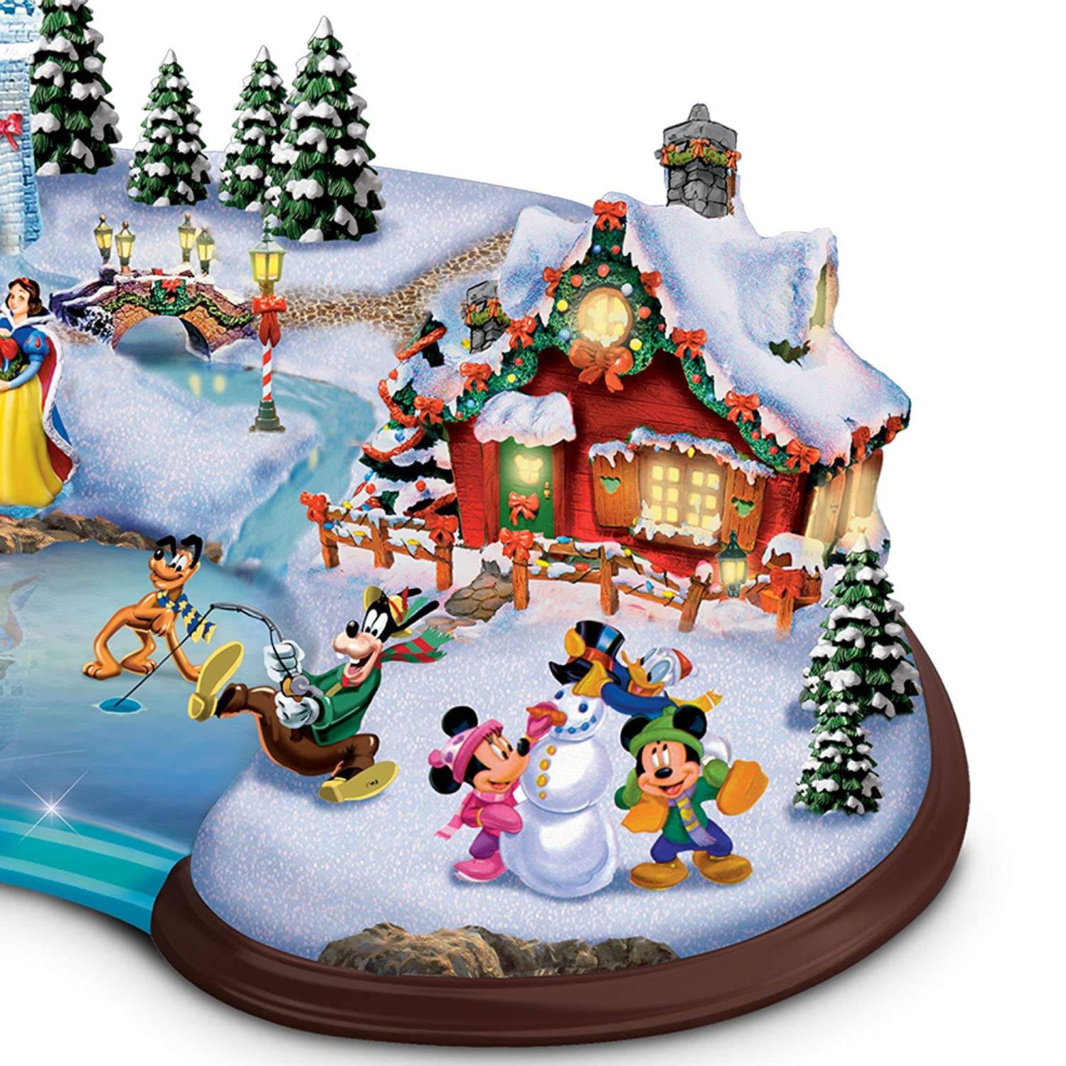 The Bradford Exchange Christmas Cove  Disney Characters Sculpture