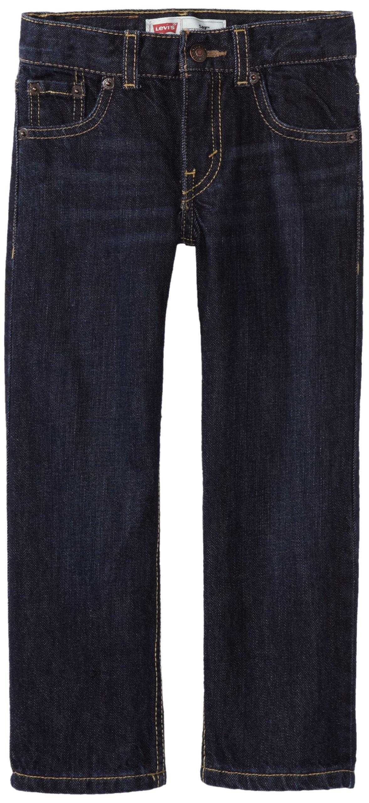 Levi's Boys' 505 Regular Fit Jeans, Midnight, 14 Husky