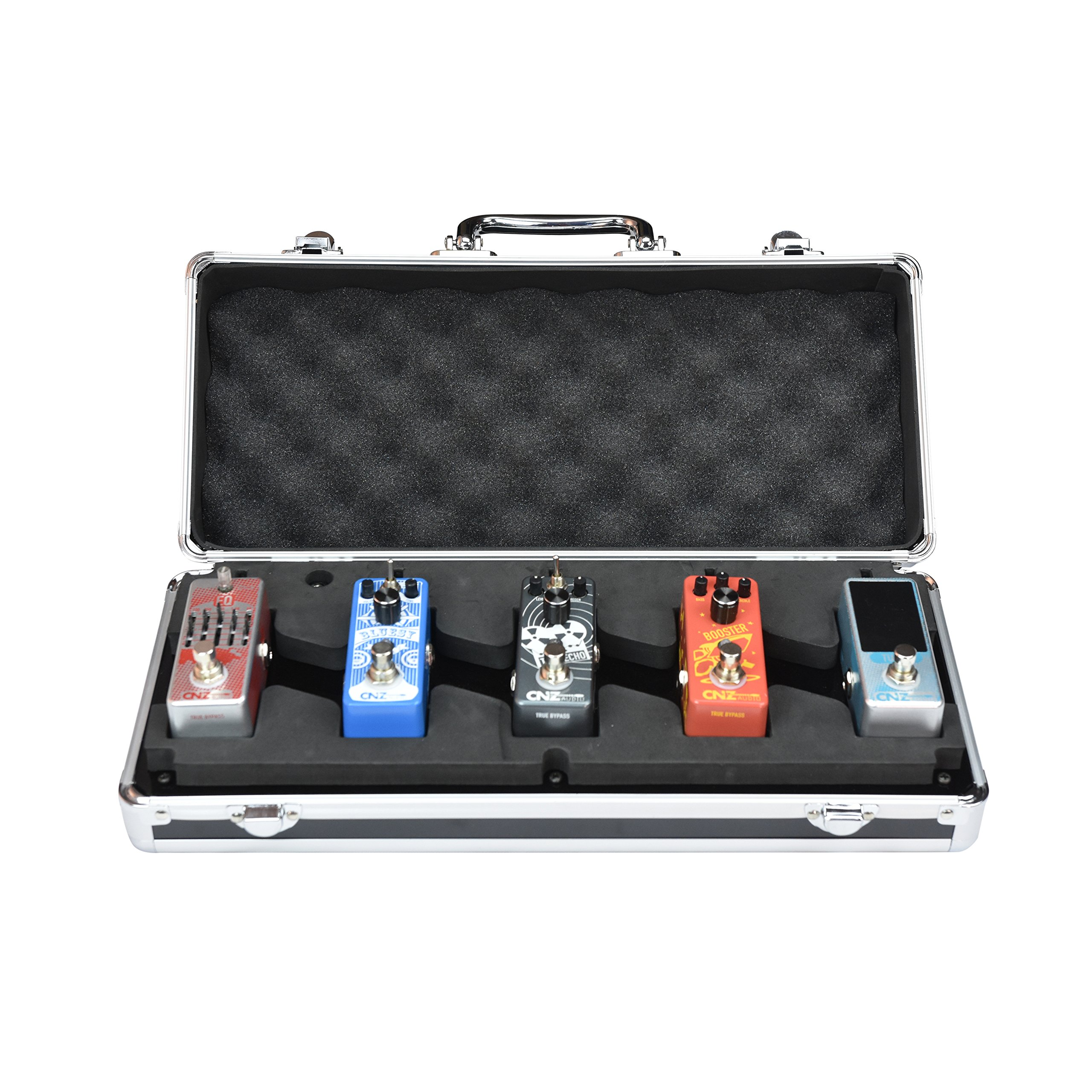 CNZ Audio PedalPad Case 5 - Guitar Effects Pedalboard for 5 Mini Pedals + Power Supply & Cables by CNZ Audio