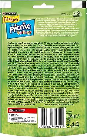 Purina Friskies Picnic Variety golosinas y chuches para perros 8 x [3 x 126 g]