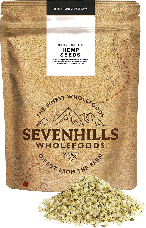 Sevenhills Wholefoods Semilla De Cáñamo Peladas Crudas Orgánico 500g