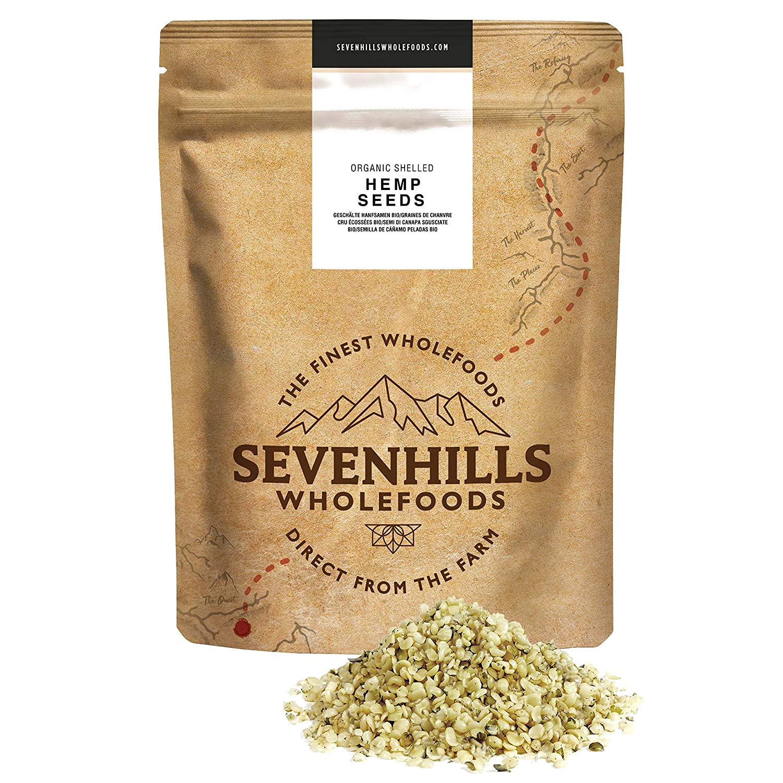 Sevenhills Wholefoods Semilla De Cáñamo Peladas Crudas Orgánico ...