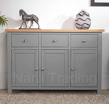 Richmond Grey Painted Furniture Large Sideboard Amazon Co Uk