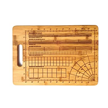 The Precision Cutting Board, for the Perfectionist Chef, 9.75 x 13.75 in. Bamboo Wood