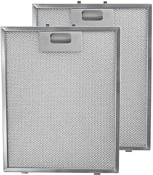 Spares2go de metal Filtro de malla para campana Teka/cocina ventilador de extracción de aire rejilla de ventilación (lote de 2 filtros, Plata, 300 x 240 mm): Amazon.es: Hogar