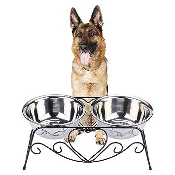 Amazon.com: CICO - Comedero para mascotas, acero inoxidable ...