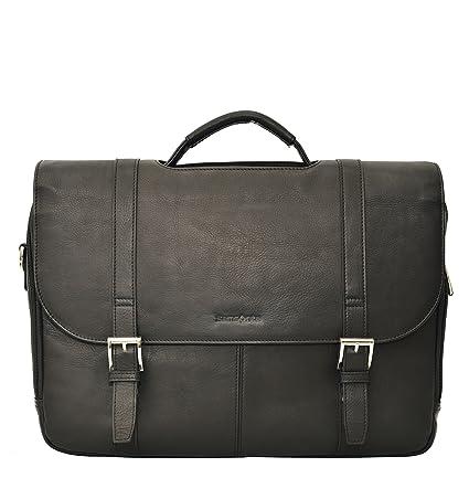 Amazon.com  Samsonite Colombian Leather Flapover Case (Black Chrome)   Office Products 9dbdc2216d621