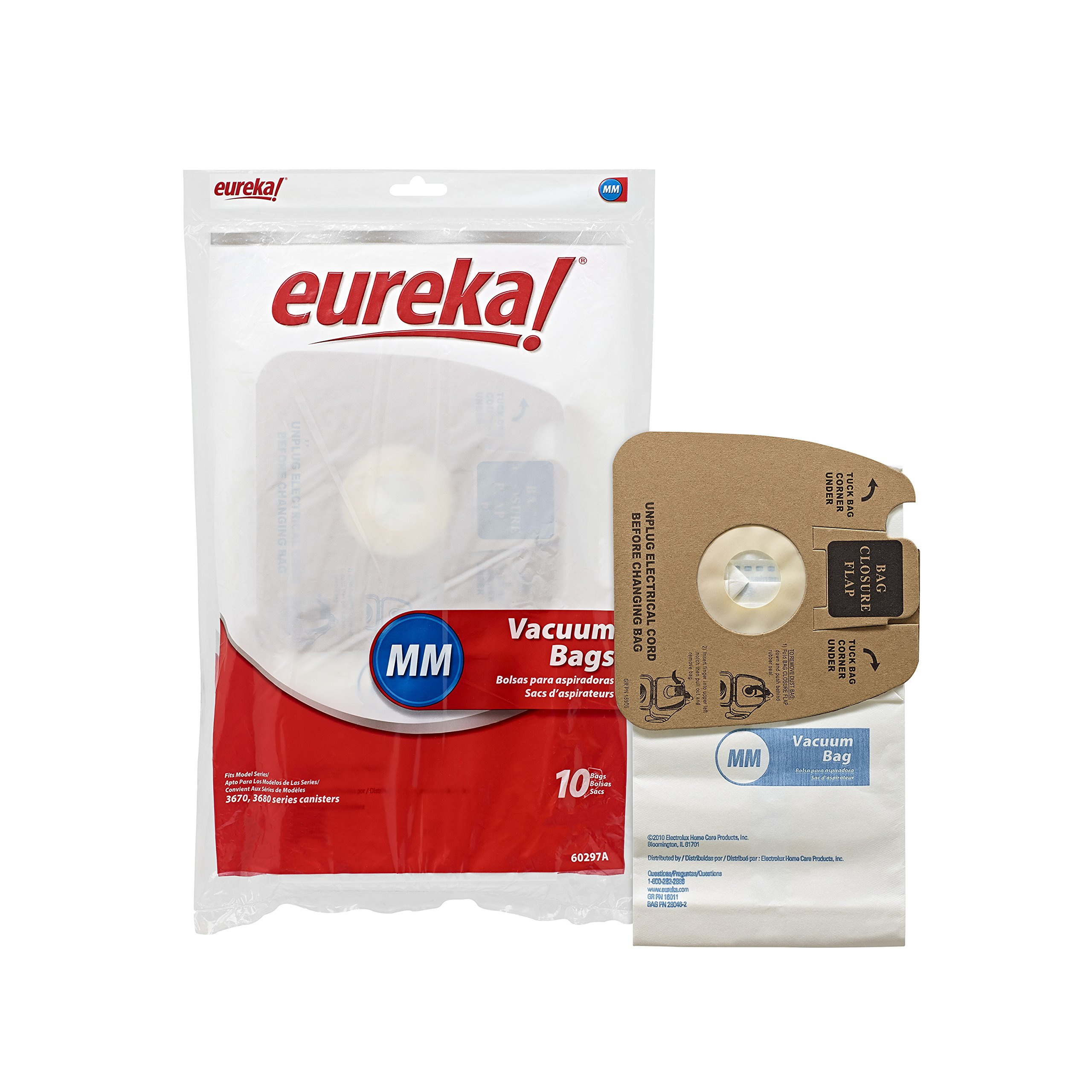 Genuine Eureka MM Vacuum Bag 60297A Style - 10 bags per Unit