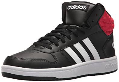 new styles 7c25c 729f1 adidas Mens VS Hoops Mid 2.0, Core BlackWhiteScarlet, ...