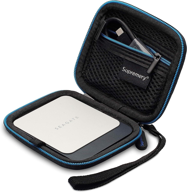 Supremery Cubierta para Seagate Fast SSD Discos Duros Caja Funda de protección Estuche Bolso para Discos Duros/HDD Caja: Amazon.es: Electrónica