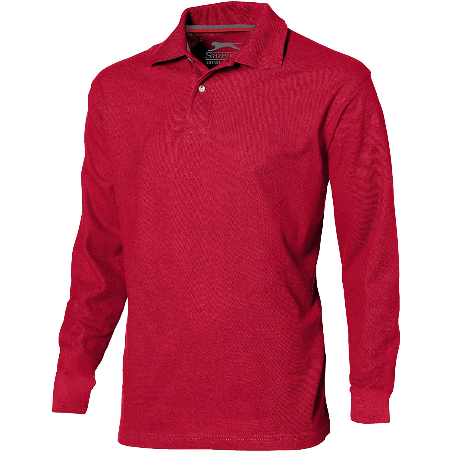 Slazenger Mens Point Long Sleeve Polo Shirt