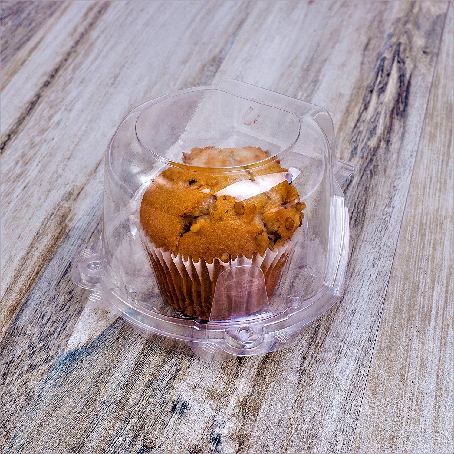 Clear Plastic Dome Muffin/Jumbo Cupcake Holders, Single Compartment- Pack of 50. (Clear, Large) by CulinWare (Image #2)