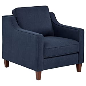 "Stone & Beam Blaine Modern Living Room Chair, Fabric, 32.3""W, Navy Blue"