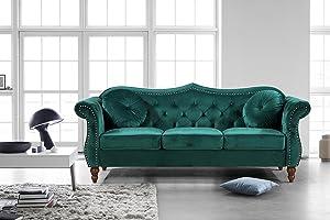 US Pride Furniture Sofa, Green