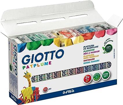 PLASTILINA Giotto PATPLUME 150 GR Surtido Caja DE 12: Amazon.es: Oficina y papelería