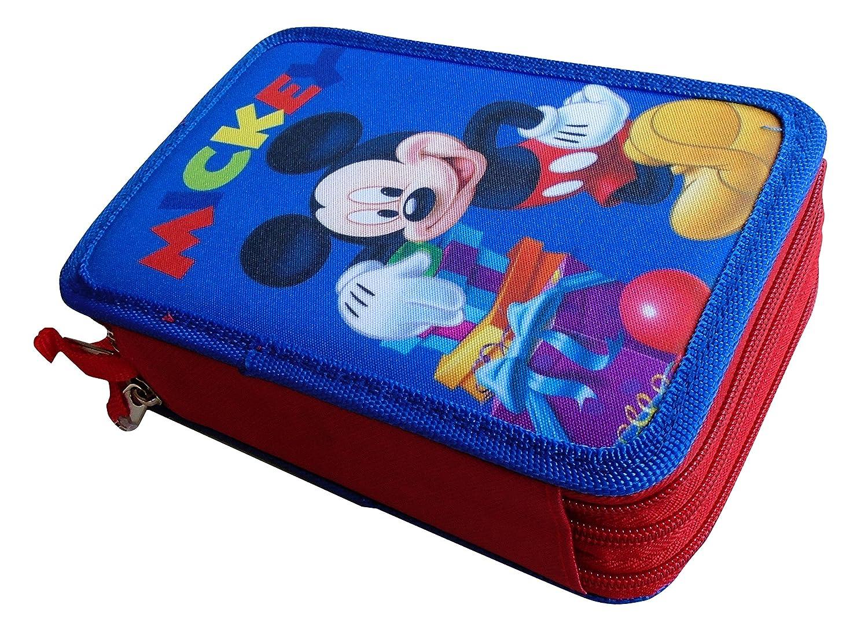 /Disney/ Paxos 82941/Astuccio Triplo Scomparto tessuto 13/x 20/x 6/cm/ /Topolino
