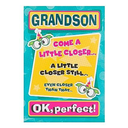 Amazon Hallmark Grandson Humour Funny Monkey Birthday Card