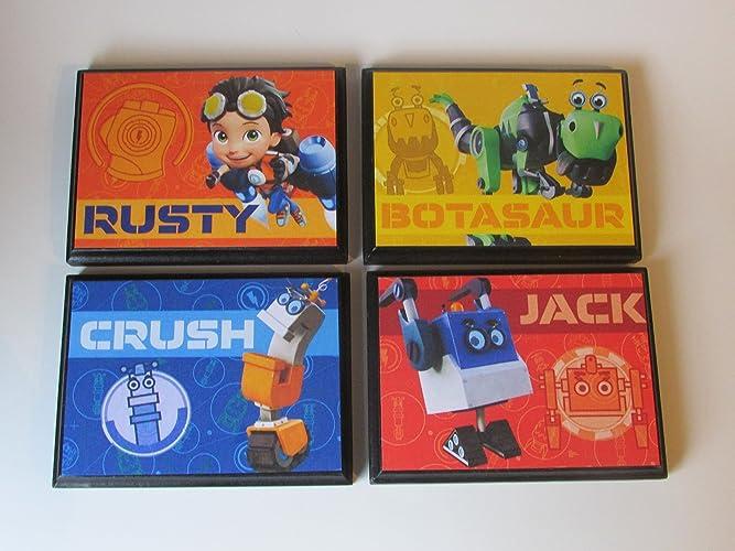 Amazon.com: Rusty Rivets Set #1 Room Wall Plaques - (Set of 4) Boys ...