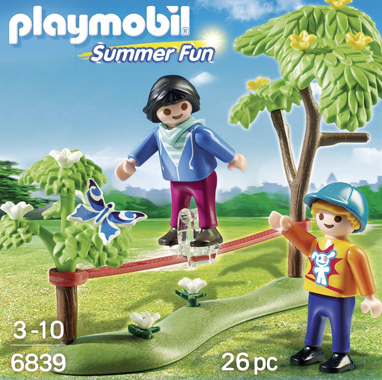 Playmobil 6839 Plastica Giovani Acrobati con Slackline