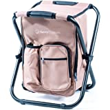 Ultralight Backpack Cooler Chair - Compact Lightweight and Portable Folding Stool - Perfect for Outdoor Events, Travel…