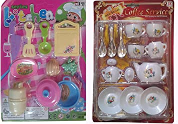 Buy s s traders 22 peices kids kitchen set for girls with cup sets buy s s traders 22 peices kids kitchen set for girls with cup sets good gift for kids online at low prices in india amazon teraionfo