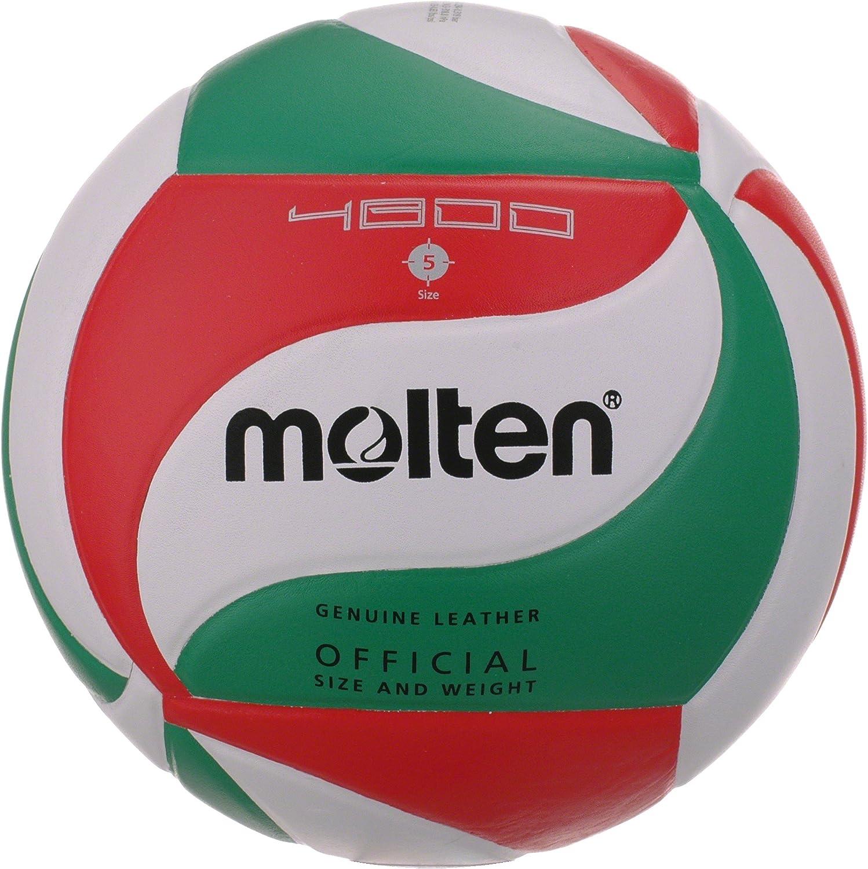 MOLTEN V5M4800 - Balón de voleybol, Color Blanco, Verde y Rojo ...