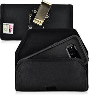 product image for Turtleback Belt Clip Case Made for Samsung Galaxy S8 with OB Commuter Case Black Holster Nylon Pouch with Heavy Duty Rotating Belt Clip Horizontal Made in USA