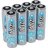 ANSMANN wiederaufladbare Akku Batterien Mignon AA  1 2V / 2100mAh  NiMH - Akkubatterie mit maxE Technologie für Geräte mit hohem Stromverbrauch / Ideal für Fernbedienung  Spielzeug uvm.  8 Stück