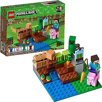 Lego Minecraft - La Granja de Melones (21138): Amazon.es: Juguetes ...