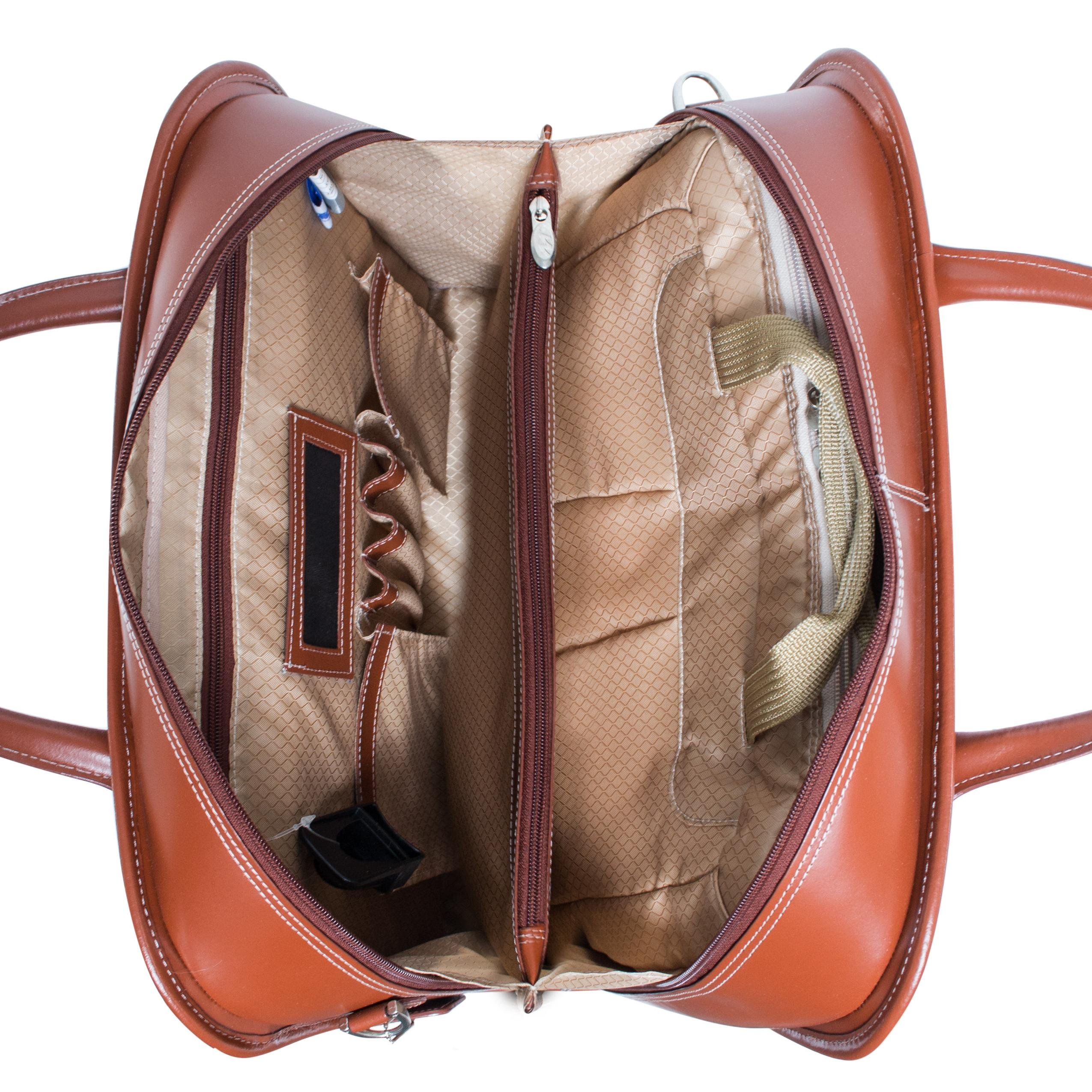 McKleinUSA LAKEWOOD 96615 Black Leather Fly-Through Checkpoint-Friendly Detachable-Wheeled Ladies' Briefcase by McKleinUSA (Image #3)