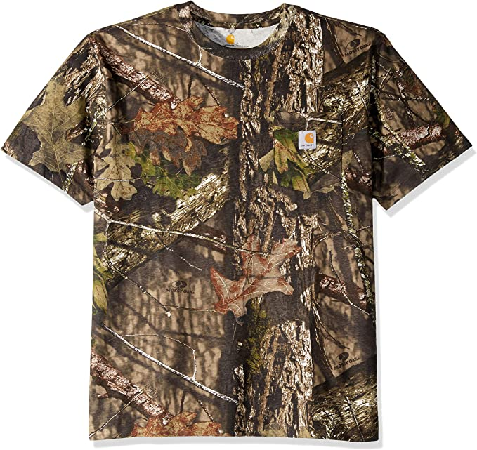 MOSSY OAK BREAKUP COUNTRY HUNTING CAMOUFLAGE  COTTON POLY T-SHIRT FABRIC 56/""