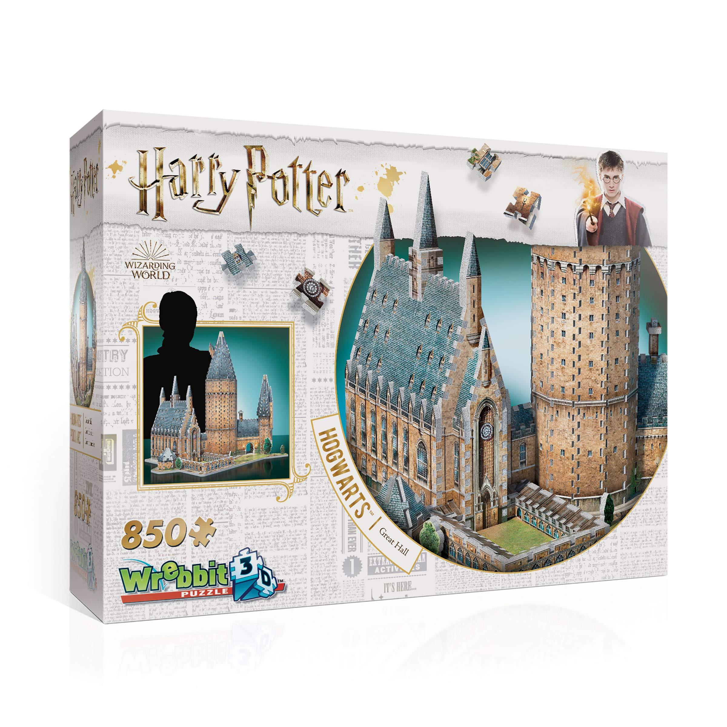 WREBBIT 3D - Harry Potter Hogwarts Great Hall 3D Jigsaw Puzzle - 850Piece by WREBBIT 3D