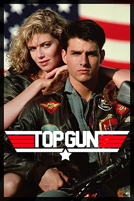 Top Gun Movie Tom Cruise and Kelly McGillis 80s Poster Print - 24