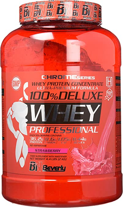 Beverly Nutrition 100% Deluxe Whey Professional Proteína Concentrada Sabor Fresa - 2000 gr
