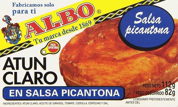 Albo - Atún claro en salsa picantona - 82 g