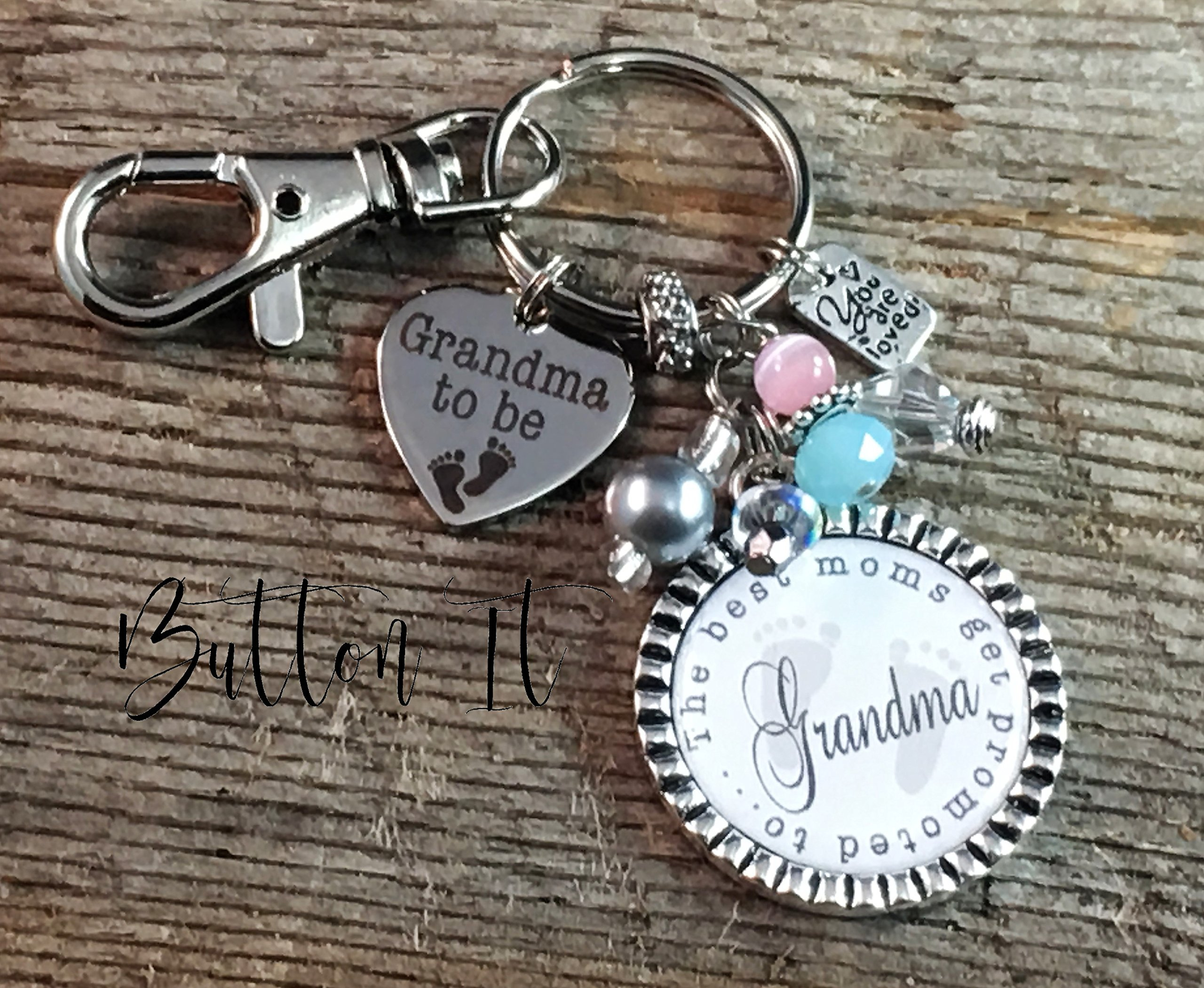 pregnancy announcement, Pregnancy announcement grandparents, Grandma To Be, Best moms get promoted to grandma, PERSONALIZED key chain, Baby Shower, new grandma, first time grandma, GENDER reveal party