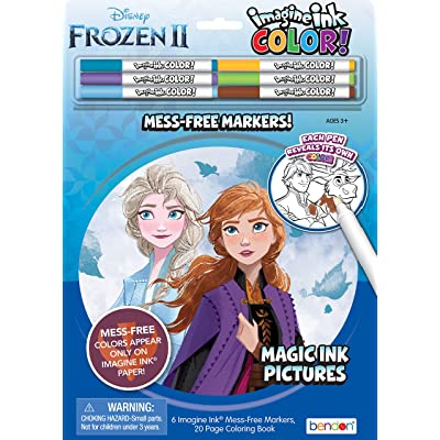Disney Frozen 2 Imagine Ink Color Pad and 20-Page Activity Book with 6 Markers 45817: Toys & Games