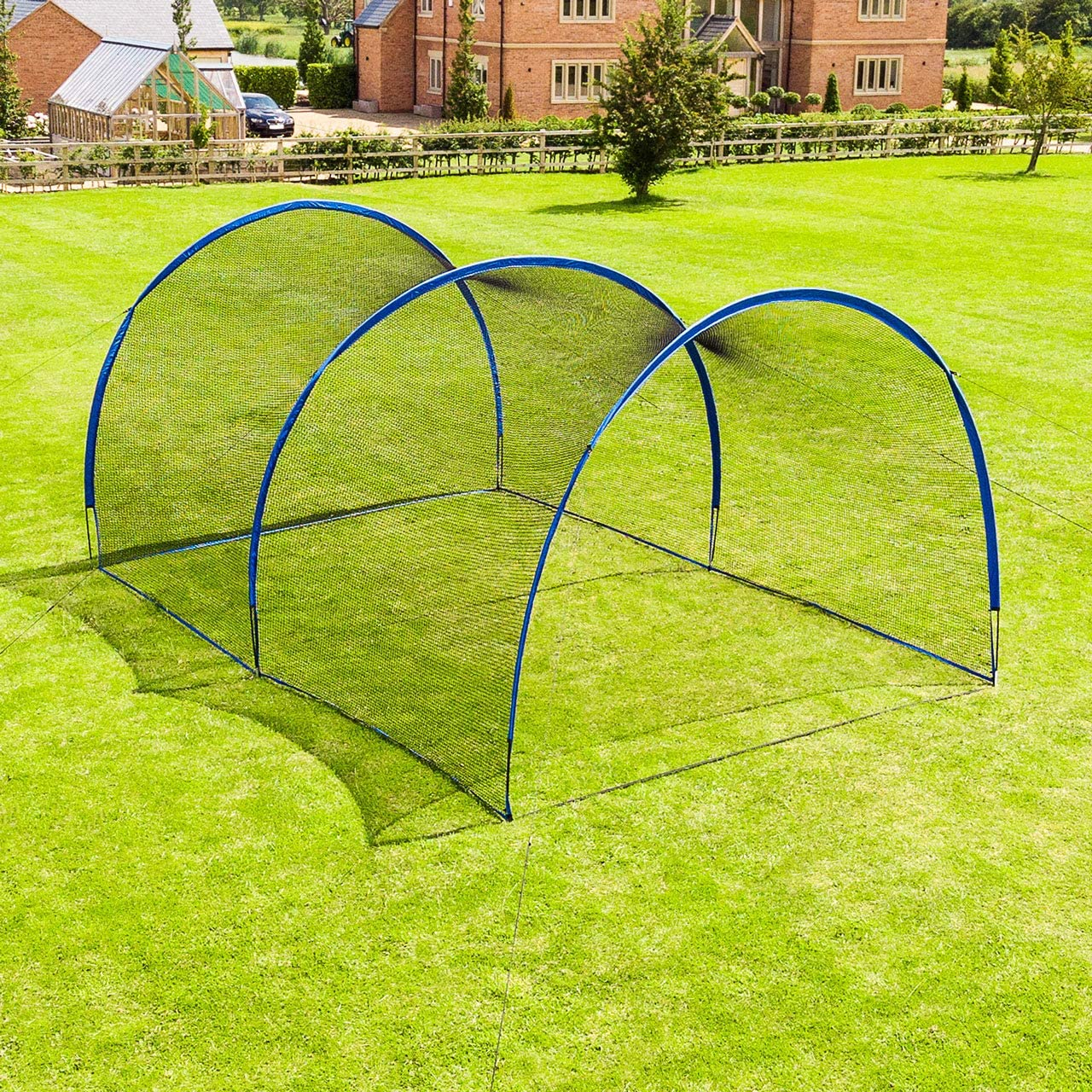 Fortress Pop-Up Baseball Batting Cage | Backyard Batting & Pitching Practice [20ft, 40ft, 60ft or 80ft Net Length] | Baseball Net for Hitting and Pitching