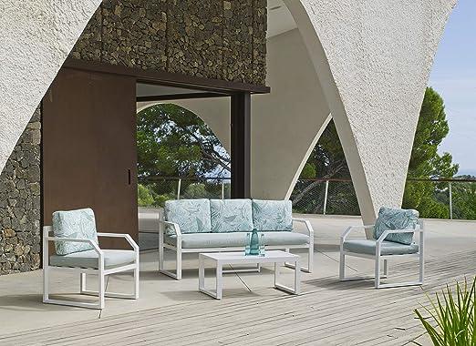 Hevea Alsacia 3 plazas Blanco Sofá de Exterior: Amazon.es: Jardín