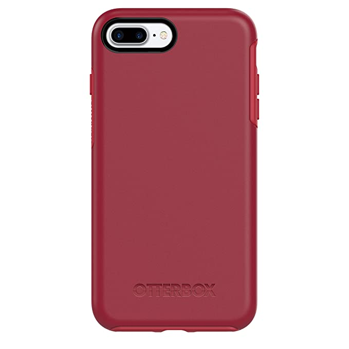 OtterBox SYMMETRY SERIES Case for iPhone 8 Plus & iPhone 7 Plus (ONLY) - Retail Packaging - ROSSO CORSA (FLAME RED/RACE RED)