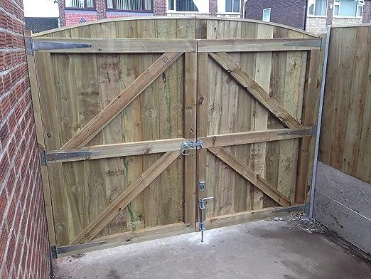 Puerta para jardín de madera 6FT HIGH X 5FT 6INCH WIDE: Amazon.es: Hogar