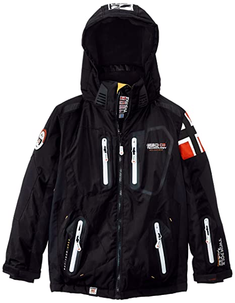 Geographical Norway Winner - Chaqueta de esquí para niño, color negro, talla 12 años