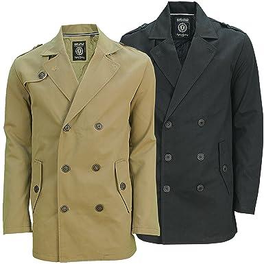 6edb81494 Soulstar Mens Short Designer Trench Coat New: Amazon.co.uk: Clothing