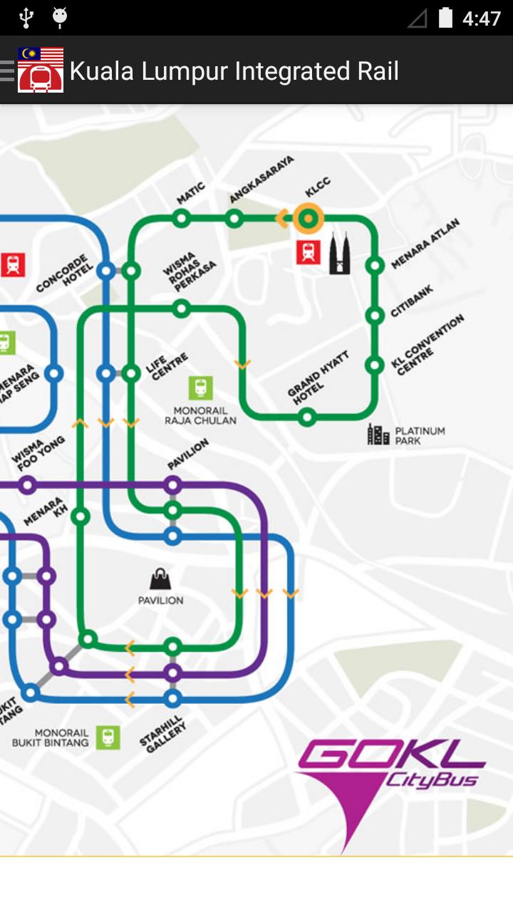Malaysia kuala lumpur subway map appstore para for Lista de precios subway
